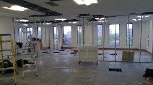 This is how the office looked 2 weeks ago, as you can see very much a blank canvass but all the team were impressed at how, light airy and spacious the room felt