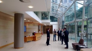 Some of the team receiving a tour of the new, high spec facilities.